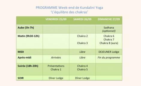 Programe weekend yoga