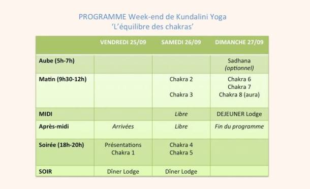 Programe weekend yoga