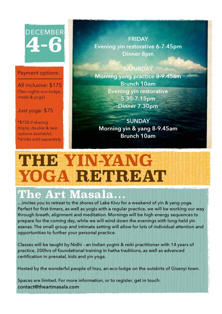 Yoga 4-6 december
