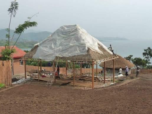 Construction du toit du restaurant