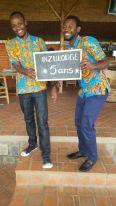 L'équipe de la réception : Yves et Emmanuel