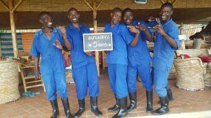 L'équipe de la sécurité : Tharcisse, Hilaire, Pascal, Vincent et Fabien