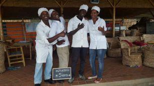 L'équipe de la cuisine : Gilbert, Jean-Claude, Frank et Odette